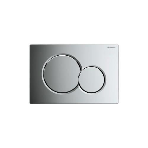 Sigma01 Dual-flush plates for Sigma series in-wall toilet systems Polished chrome Finish