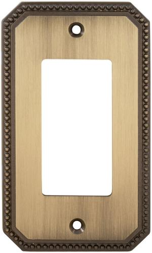 Single Rocker Beaded Switchplate in (SB Shaded Bronze, Lacquered) Product Image