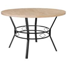 "47"" Round Dining Table in Bleached Sandstone-Like Finish"