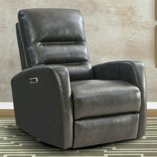 See Details - RINGO - FLORENCE GREY Power Swivel Glider Recliner