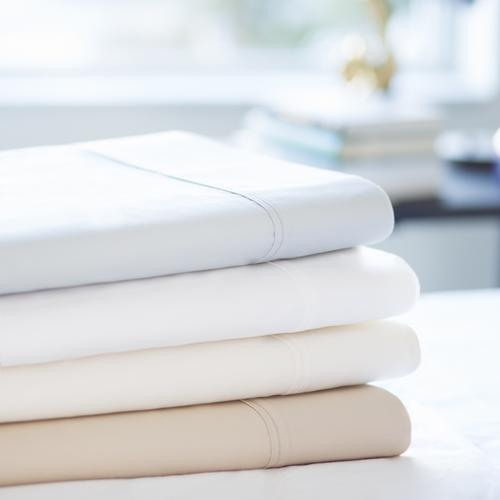 600 TC Cotton Blend Queen Pillowcase Ivory