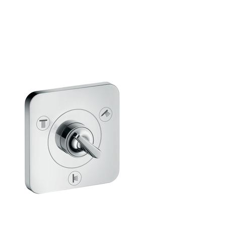 Brushed Nickel Shut-off/ diverter valve Trio/ Quattro 120/120 for concealed installation