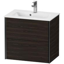 View Product - Vanity Unit Wall-mounted Compact, Brushed Walnut (real Wood Veneer)