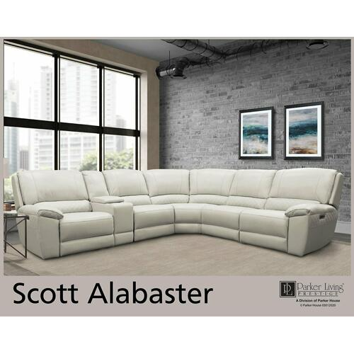 SCOTT - ALABASTER Power Entertainment Console
