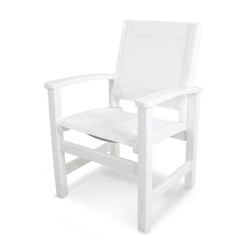 White Coastal Dining Chair
