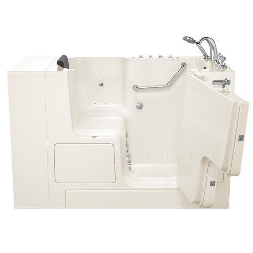 Gelcoat Premium Series 32x52 Outward Opening Door Combo Massage Walk-in Tub, Right Drain  American Standard - Linen