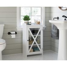 See Details - Bathroom Floor Storage Cabinet with Door