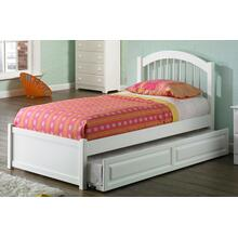 Windsor Twin Flat Panel Foot Board with Raised Panel Trundle White