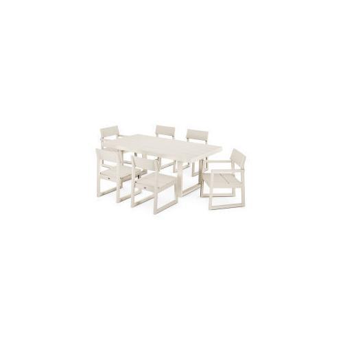 Polywood Furnishings - EDGE 7-Piece Dining Set in Sand