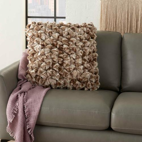 "Life Styles Ys101 Beige 20"" X 20"" Throw Pillow"