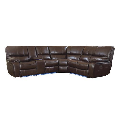 Gallery - 3-Piece Modular Power Reclining Sectional with Left Console and LED