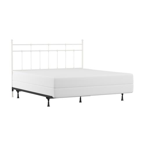 Hillsdale Furniture - Providence Metal King Headboard and Frame, Soft White