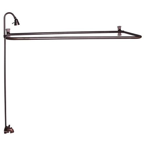 "Rectangular ""D"" Shower Unit - Oil Rubbed Bronze / 48"" x 26"""