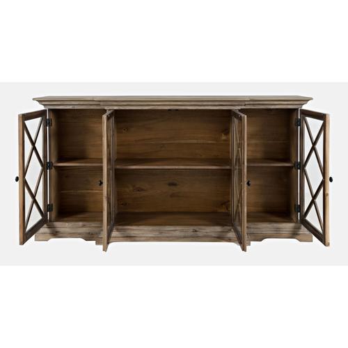 Carrington Large Breakfront Cabinet - Bisque