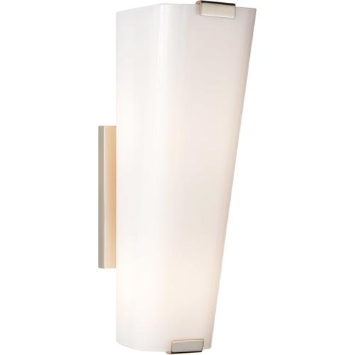 AERIN Alpine 2 Light 5 inch Polished Nickel Single Sconce Wall Light