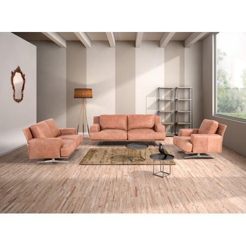 Gallery - Estro Salotti Foster Modern Cognac Italian Leather Sofa Set