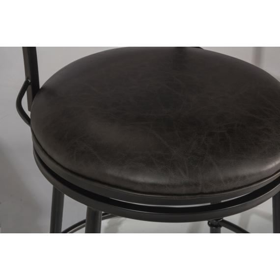 Thielmann Commercial Swivel Counter Stool - Charcoal/charcoal