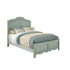 6/6 King Panel Bed - Mint Finish