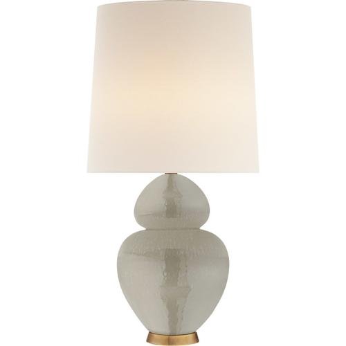 AERIN Michelena 34 inch 60 watt Shellish Gray Table Lamp Portable Light