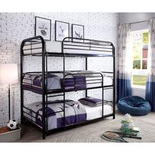 Sleeps (3)  Triple Bunk Bed Twin/Twin/Twin in Black by Furniture of America
