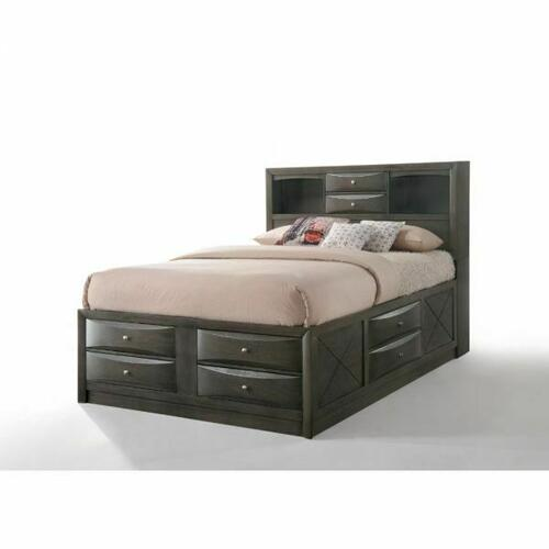 ACME Ireland Queen Bed w/Storage - 22700Q - Gray Oak