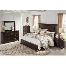 Brynhurst - Dark Brown 3 Piece Bed Set (Cal King)