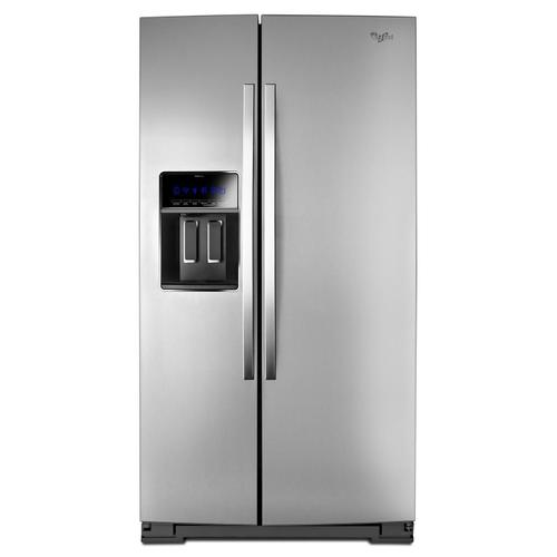 36-inch Wide Side-by-Side Counter Depth Refrigerator with StoreRight Dual Cooling System - 23 cu. ft. Monochromatic Stainless Steel