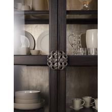 See Details - Sanctuary Glass Bunching Curio-Ebony Antiqued Oak