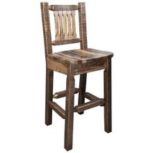 Homestead Collection Barstool with Back, Stain and Lacquer Finish