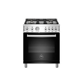 30 inch All Gas Range, 4 Brass Burner Nero