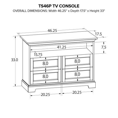 TS46P Custom TV Console