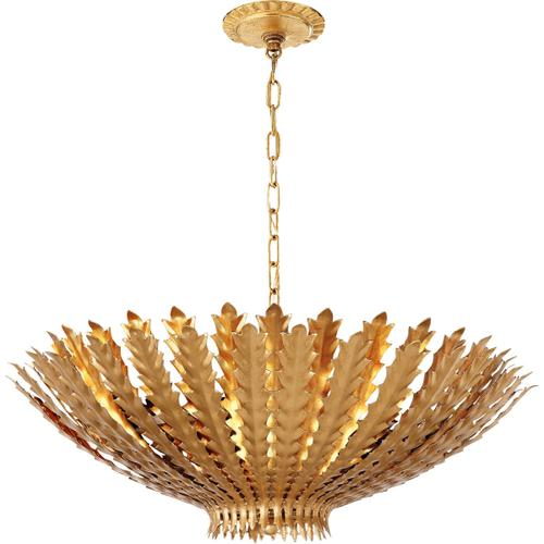 AERIN Hampton 6 Light 26 inch Gild Chandelier Ceiling Light, Large