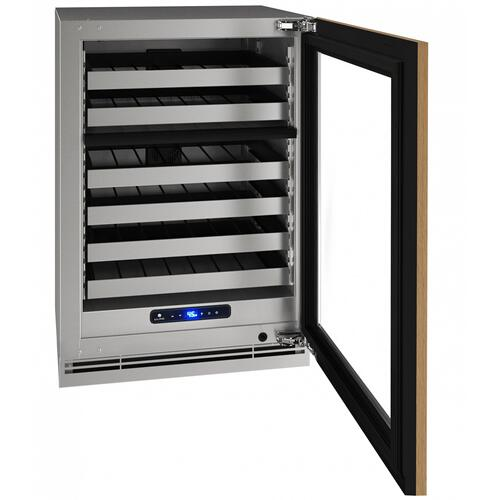 "Hwd524 24"" Dual-zone Wine Refrigerator With Integrated Frame Finish and Field Reversible Door Swing (115 V/60 Hz Volts /60 Hz Hz)"