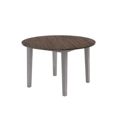 5059 ALACARTE: Grey Round Table & 4 Dining Chairs