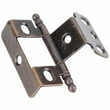 """View Product - 270° Full Wrap for 3/4"""" Frame x 3/4"""" Door, Inset Flush Ball Tip Hinge - Antique Brass"""