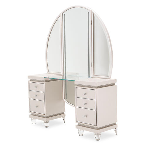Amini - Vanity Desk W/mirror (2pc)