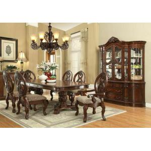 ACME Rovledo Dining Table w/Double Pedestal - 60800 - Cherry