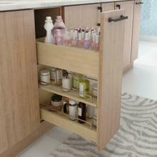 See Details - Divided Acrylic Top Tray for Vanity Pullout