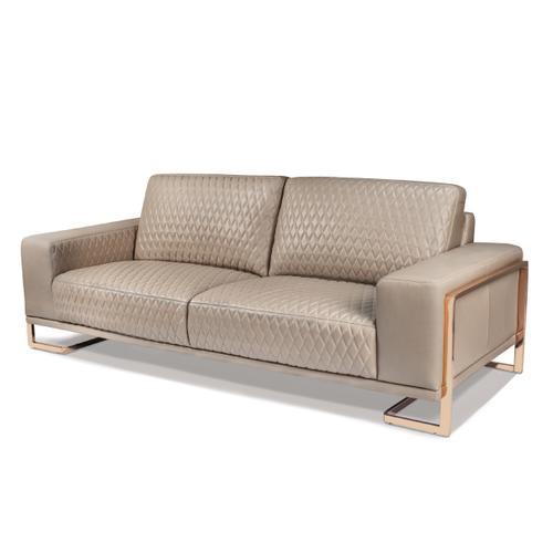 Amini - Gianna Leather Sofa - Lt. Coffee