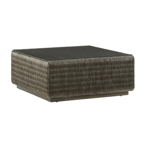 Seawatch Woven Cocktail Table Tempered Glass Top