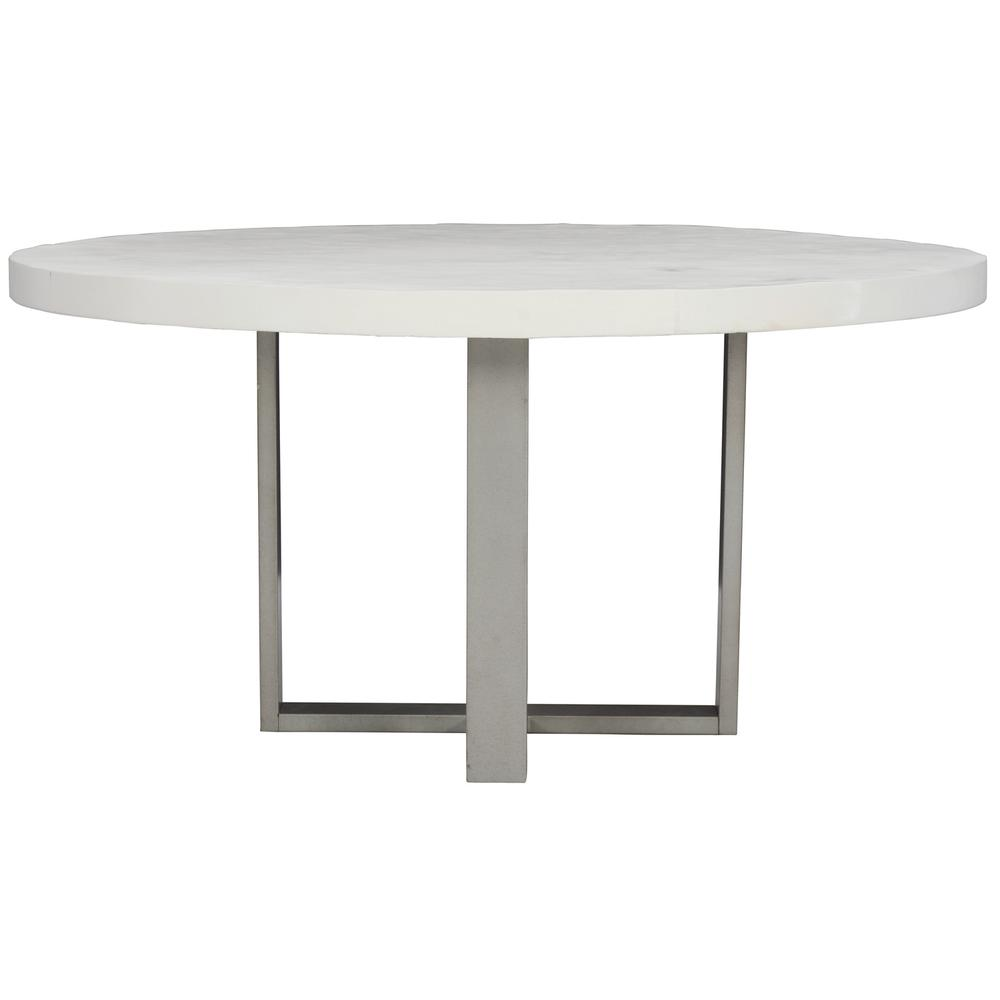 Merrion Round Dining Table in Bone, Gray Mist