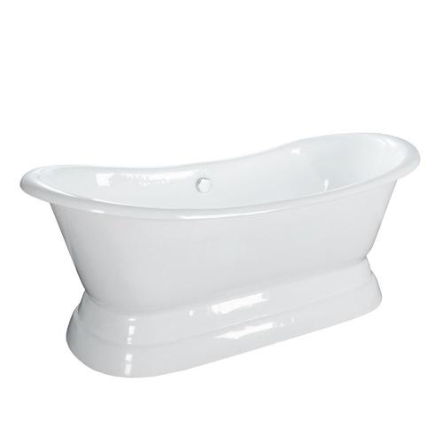 """Product Image - Randall 72"""" Cast Iron Double Slipper Tub with Base"""
