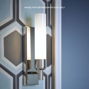 """Main Line 3-1/8"""" X 10-1/4"""" X 3-3/4"""" Sconce In Polished Nickel With Frosted Shade Product Image"""