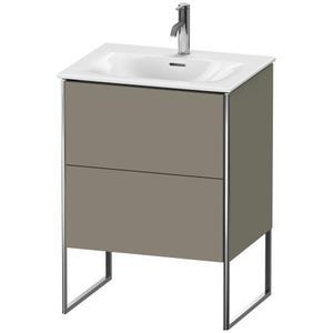 Vanity Unit Floorstanding, Stone Gray Satin Matte (lacquer)