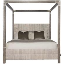 King Palma Canopy Bed in Rustic Gray