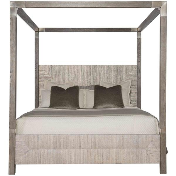 See Details - King-Sized Palma Canopy Bed in Rustic Gray
