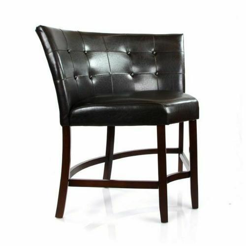 ACME Bravo Counter Height Corner Chair - 07253 - PU & Espresso