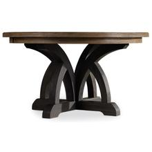 View Product - Corsica Dark Round Dining Table (Dark Base/Light Top)