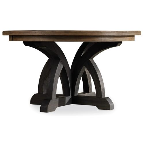 Hooker Furniture - Corsica Dark Round Dining Table (Dark Base/Light Top)