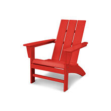 Sunset Red Modern Adirondack Chair